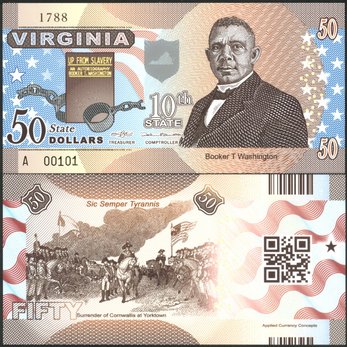 ACC STATE NOTE SERIES: WYOMING $50 POLYMER FANTASY ART