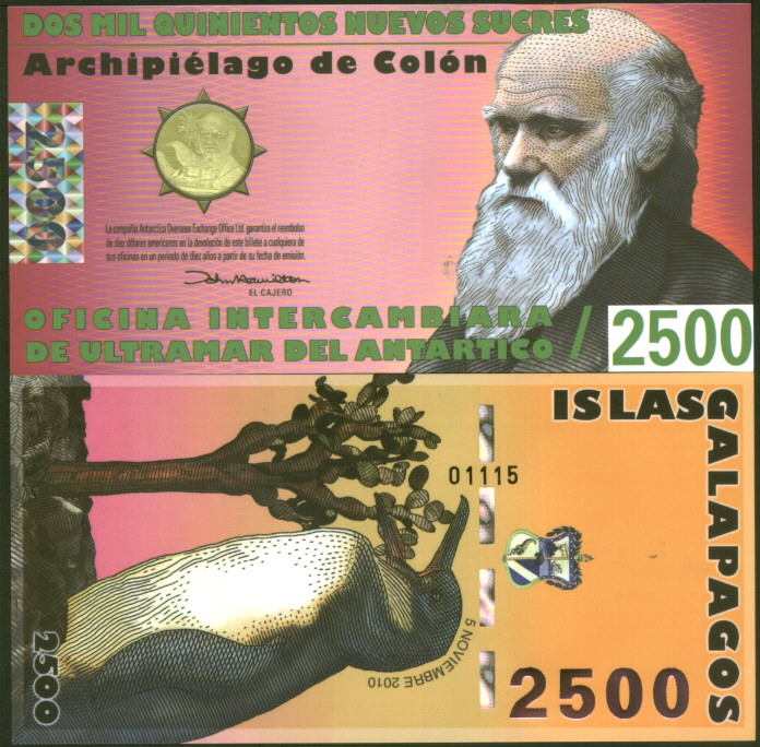 Galapagos Islands 5000 POLYMER UNC /> Commemorative Sucres 2009 5,000