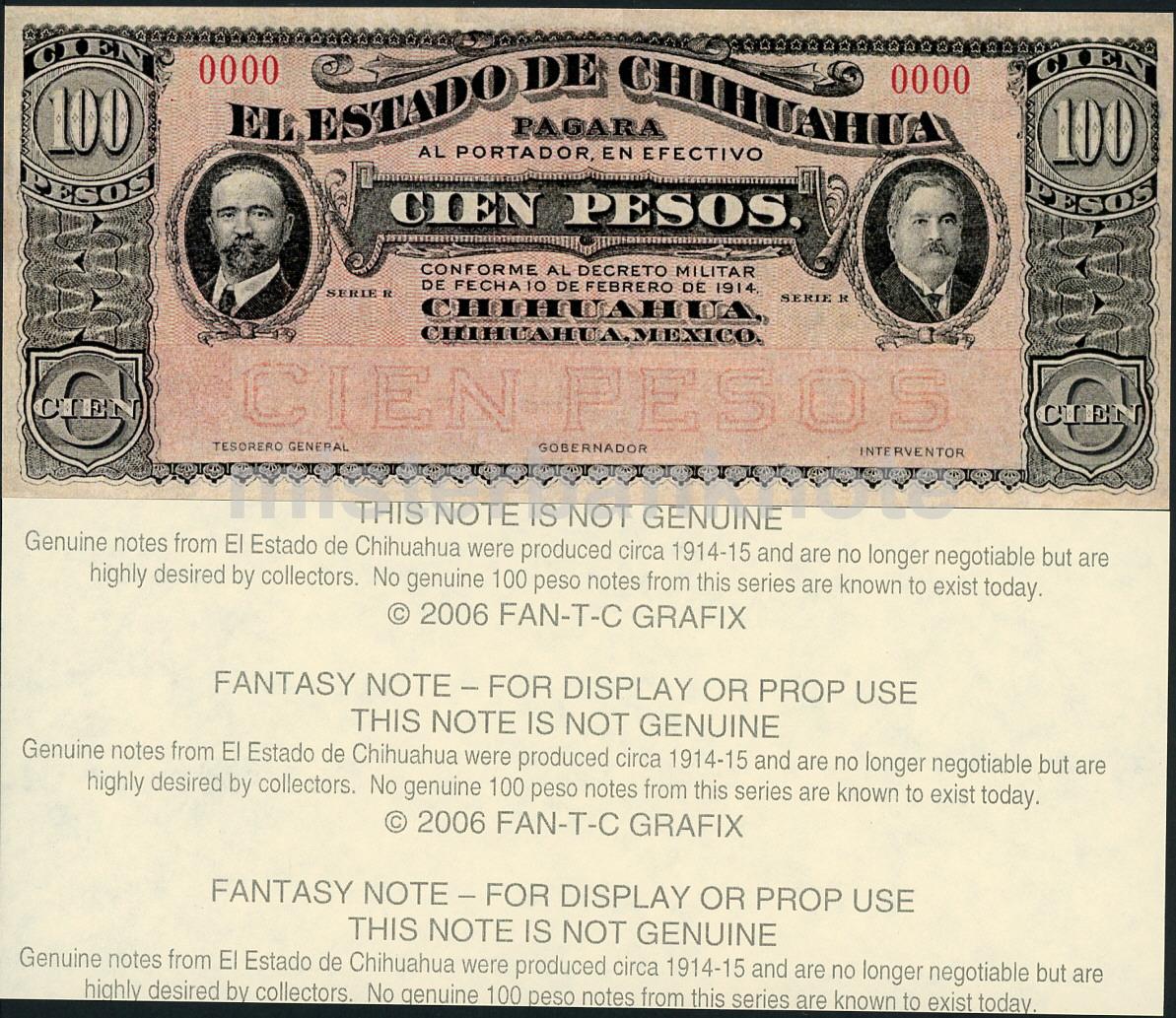 BankNote Mexico El Banco DelDe Estado Chihuahua Centavo Money Bill Cash Peso LOT